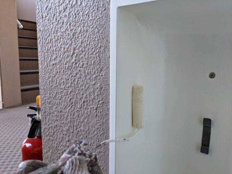 消火器ボックス塗装