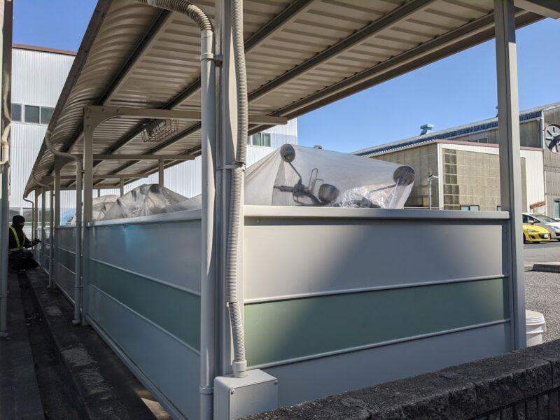 スペクトル三好、駐輪場鉄部塗装工事