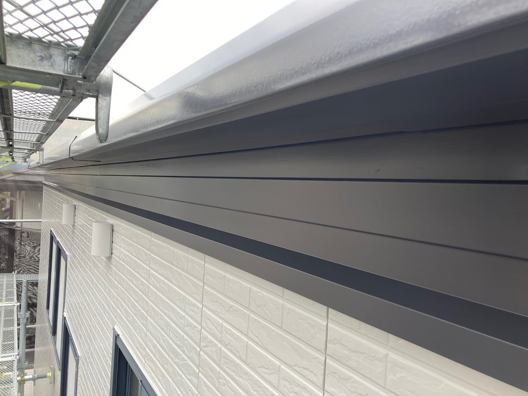 トヨタホーム、鼻隠し・樋塗装