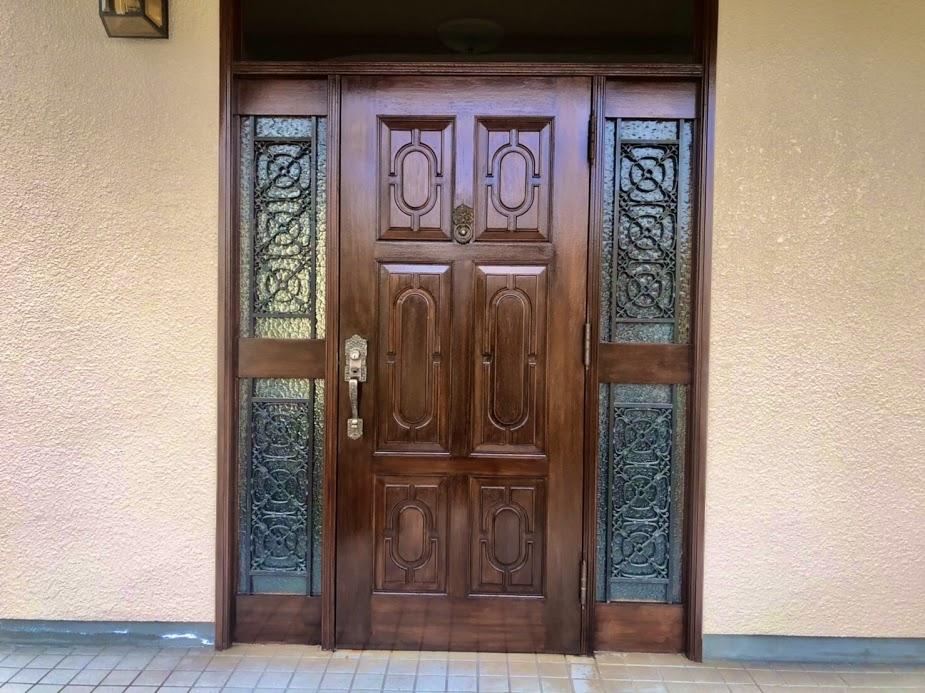 日進市 玄関ドア塗装