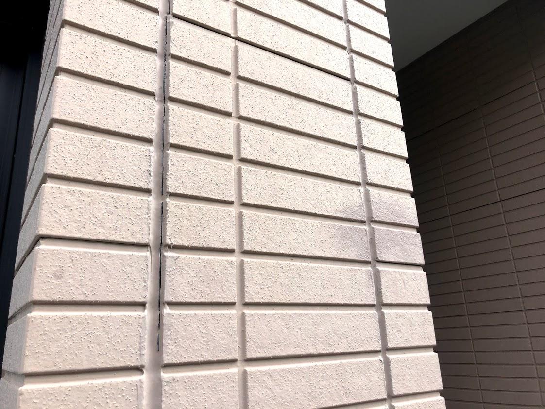 豊田市タイル調外壁施工前