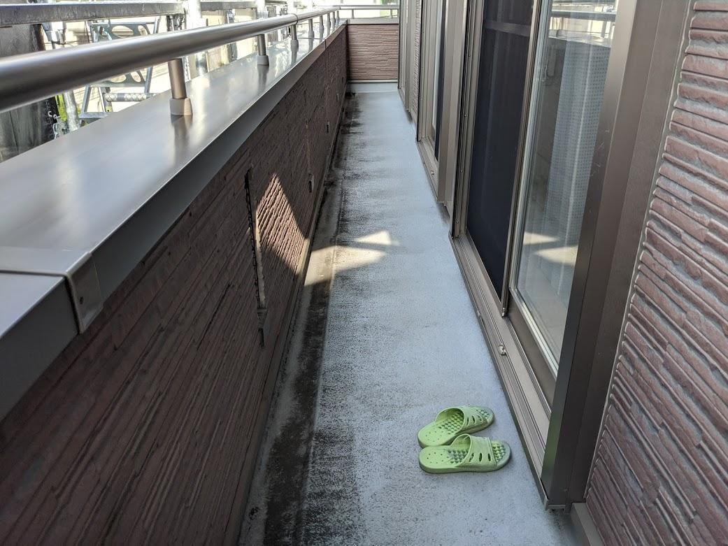 愛知県日進市 ベランダ防水前