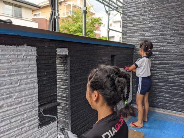 愛知県日進市 子供と外壁塗装