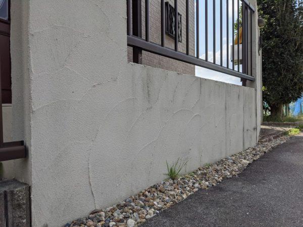 玄関塀塗装前