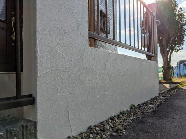 玄関塀塗装