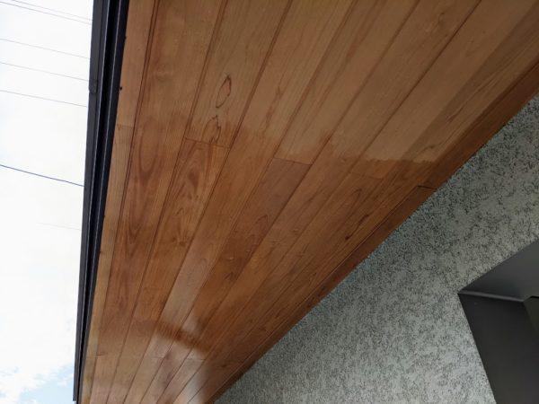 軒天木部塗装