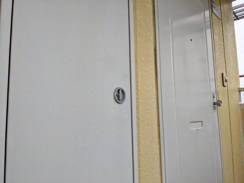 アパート鉄部塗装