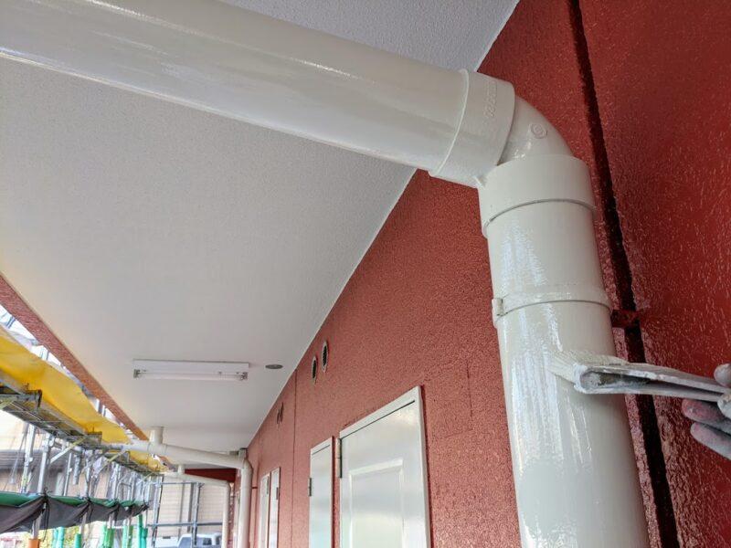 アパート樋塗装