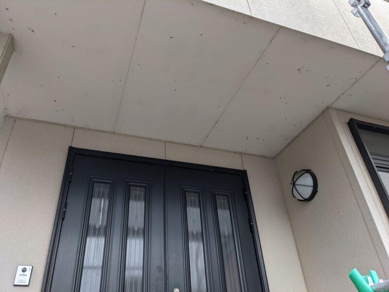 玄関塗装前