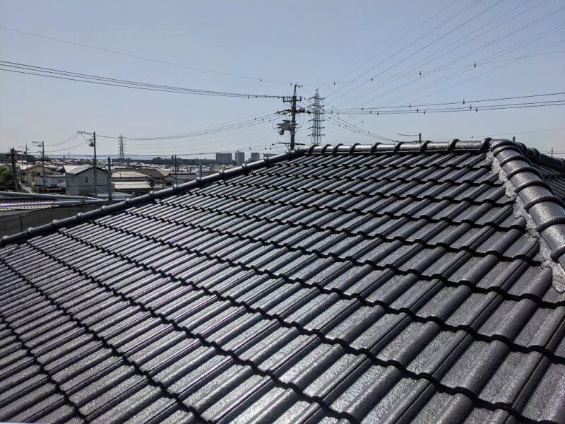 豊田市、屋根塗装完了