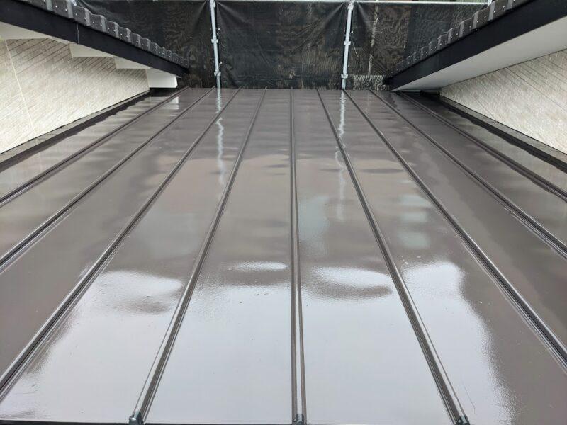 ガルバリウム鋼板塗装後