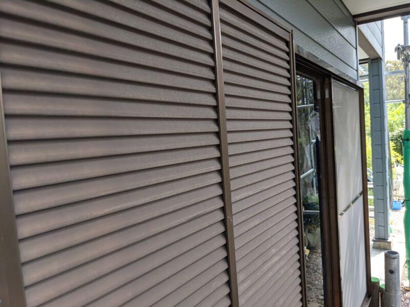 雨戸塗装前